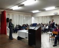 Acic Curitibanos - Conselho dos Núcleos realiza primeira palestra com alunos do Sólon Rosa