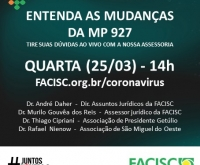 Acic Curitibanos - Assessoria jurídica da FACISC esclarece dúvidas sobre a MP 927