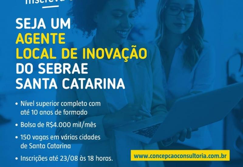 Pra Vida - Sebrae tem vagas para Agente Local de Inovação em Curitibanos