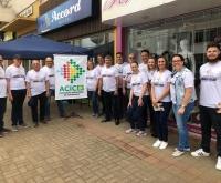 Acic Curitibanos - Pedágio da Comércio Forte, Cidade Feliz é realizado com sucesso