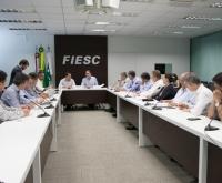 Acic Curitibanos -  Em reunião na FIESC, governo e indústria intensificam diálogo